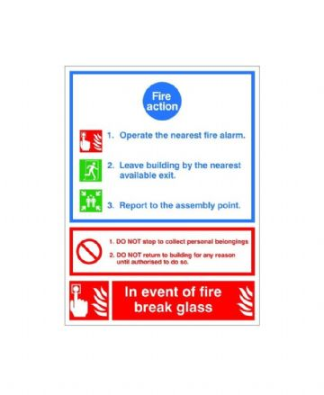 Fire Action Sign ACT 03